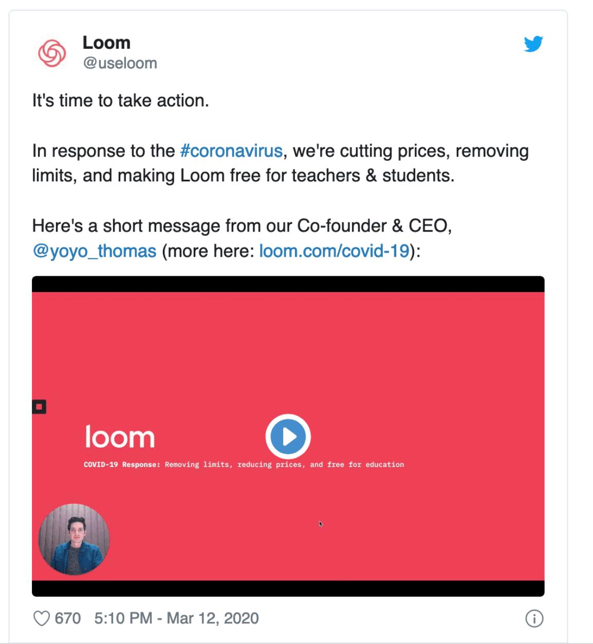 Loom twitter example